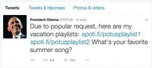 Twitter Playlist Obama